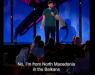 Македонец на Би Би Си 3 стенд ап комеди